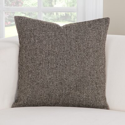 Belmont Throw Pillow Size: 26 H x 26 W x 6 D, Color: Graystone