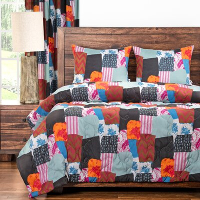 Boho 3 Piece Comforter Set Size: Twin