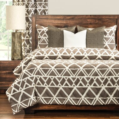 Geo Tribe 3 Piece Comforter Set Size: Twin