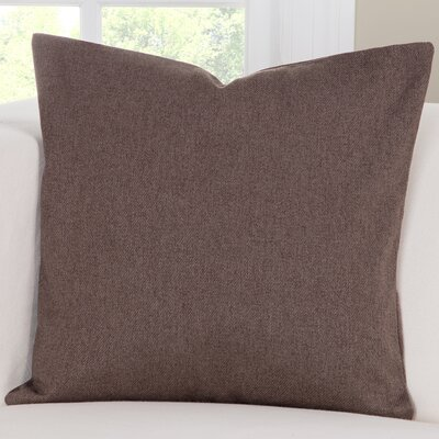 Throw Pillow Size: 26 H x 26 W x 6 D, Color: Coffee