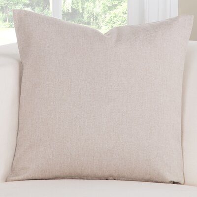 Throw Pillow Size: 26 H x 26 W x 6 D, Color: Tan