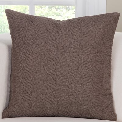 Saddleback Throw Pillow Size: 16 H x 16 W x 6 D, Color: Brown