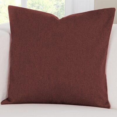 Throw Pillow Size: 16 H x 16 W x 6 D, Color: Crimson