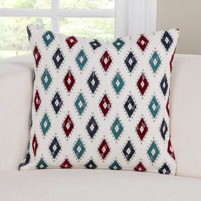 Cherokee Accent Throw Pillow Size: 26 H x 26 W x 6 D, Color: Blue/Teal/Red