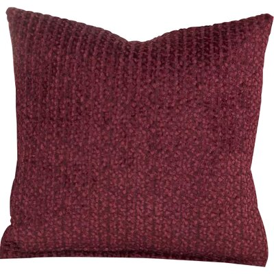 Tumbleweed Stone Throw Pillow Size: 20 H x 20 W x 6 D, Color: Crimson