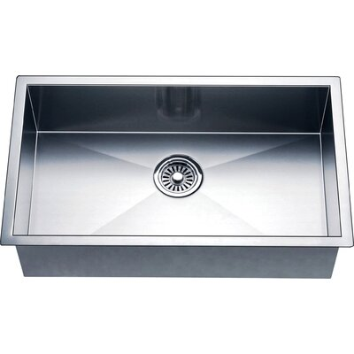 33 x 18 Single Bowl Kitchen Sink