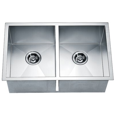 29 x 18 Equal Double Bowl Kitchen Sink