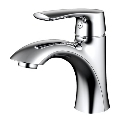 Lavatory Single-Lever Handle Bathroom Faucet with Drain Assembly Finish: Chrome