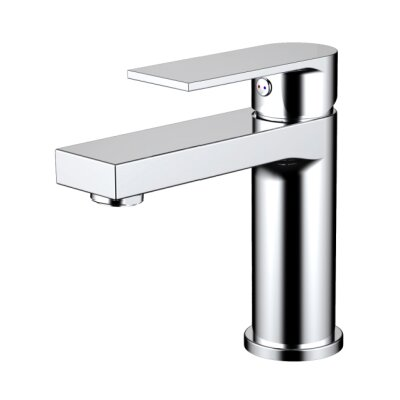 Single Hole Single Handle Bathroom Faucet Finish: Chrome