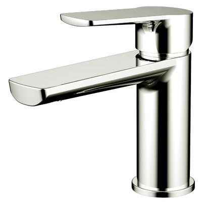 Single Hole Single Handle Bathroom Faucet Finish: Brushed Nickel