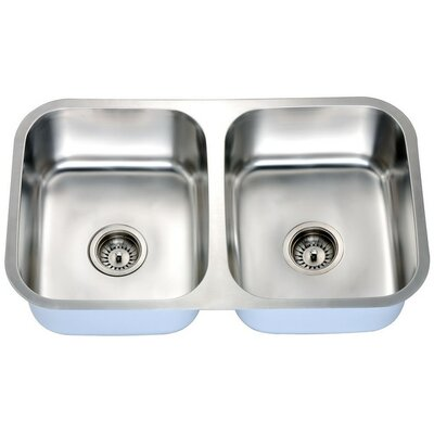 31 x 18 Double Basin Undermount Kitchen Sink