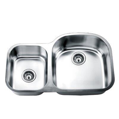 33 x 21 Double Basin Undermount Kitchen Sink