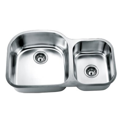 33 x 21 Double Basin Undermount Kitchen Sink