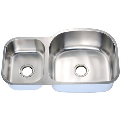 35 x 20 Double Basin Undermount Kitchen Sink