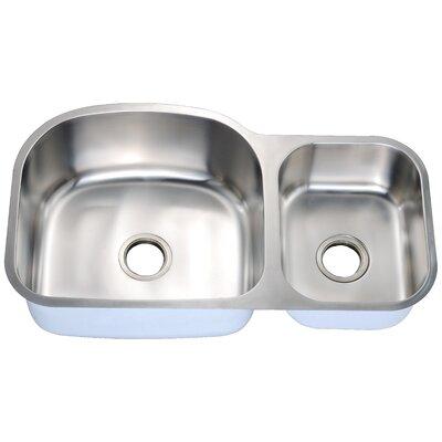 35 x 20 Double Basin Undermount Kitchen Sink