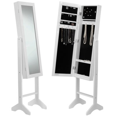 Mirrored Jewelry Armoire with Mirror