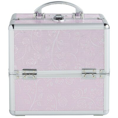 Professional Aluminum Beauty Cosmetics And Makeup Travel Case Color: Pink