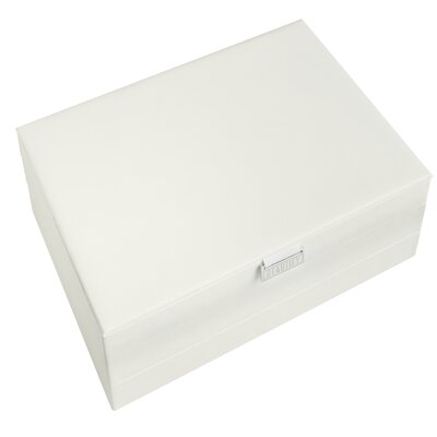 Extra-large Stackable Jewelry Box Finish: White