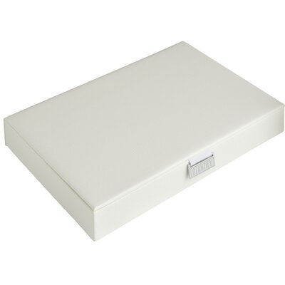 Extra-large Stackable Jewelry Box Organizer Finish: White