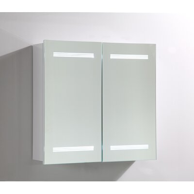 26 x 25 Surface Mount Medicine Cabinet with LED Lighting