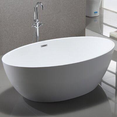 69 x 39 Freestanding Soaking Bathtub