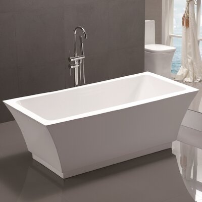 59 x 29.5 Freestanding Soaking Bathtub