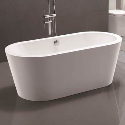 67.7 x 32.3 Freestanding Soaking Bathtub