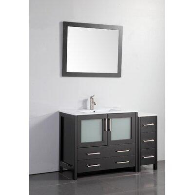 48 Single Bathroom Vanity Set with Mirror Base Finish: Espresso