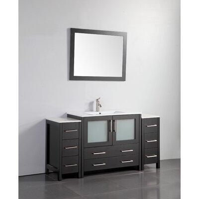 60 Single Bathroom Vanity Set with Mirror Base Finish: Espresso