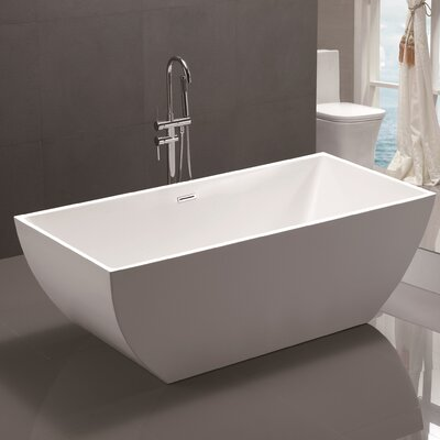 67 x 31.5 Acrylic Freestanding Soaking Bathtub