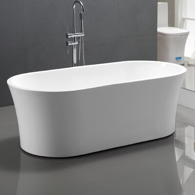 63 x 29.5 Acrylic Freestanding Soaking Bathtub