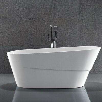 67 x 31 Acrylic Freestanding Soaking Bathtub