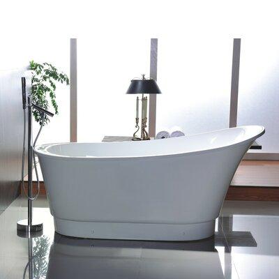 67 x 24 Freestanding Soaking Bathtub