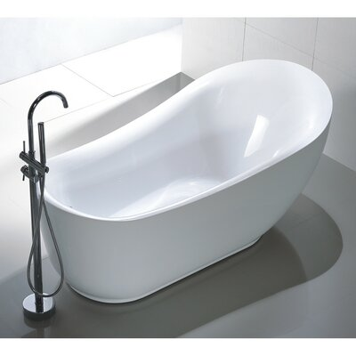 71 x 35 Freestanding Soaking Bathtub