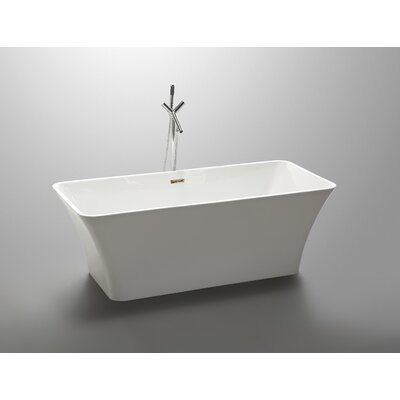 67 x 29.5 Freestanding Soaking Bathtub