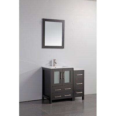 Karson 36 Bathroom Vanity Set with Mirror Base Finish: Espresso