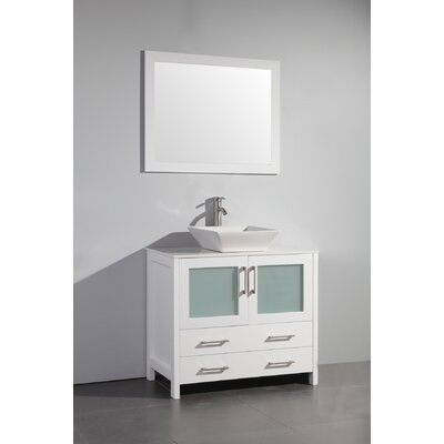 Karson 36 Single Bathroom Vanity Base Finish: White