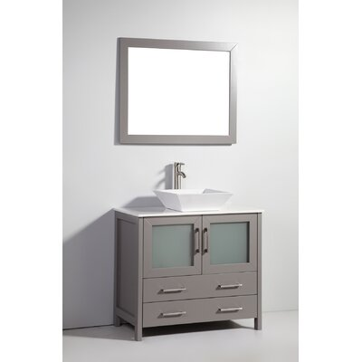 Karson 36 Single Bathroom Vanity Base Finish: Gray