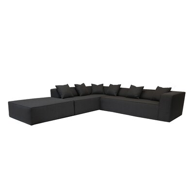 Box Sectional Orientation: Left Hand Facing, Upholstery: Black