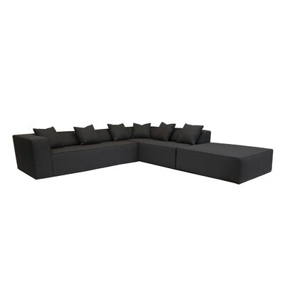 Sectional Orientation: Right Hand Facing, Upholstery: Black