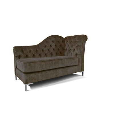 Everly Chaise Lounge Upholstery: Charcoal
