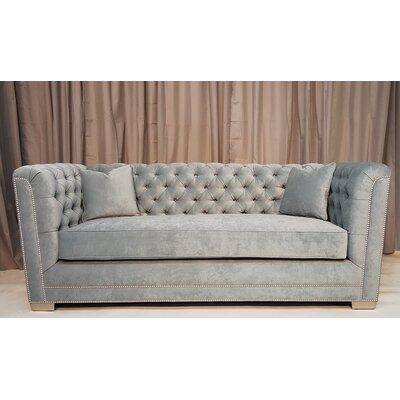 Buckingham Chesterfield Sofa Upholstery: Sea Gray
