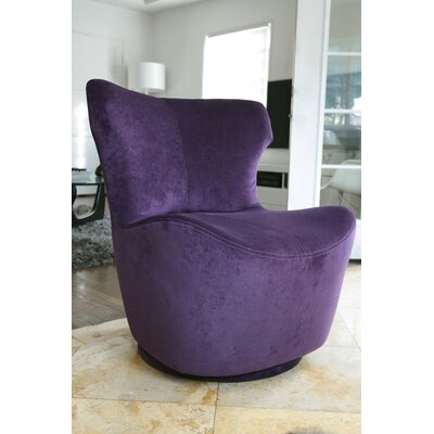 Pico Swivel Side Chair Upholstery: Aubergine