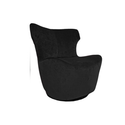 Pico Swivel Side Chair Upholstery: Black