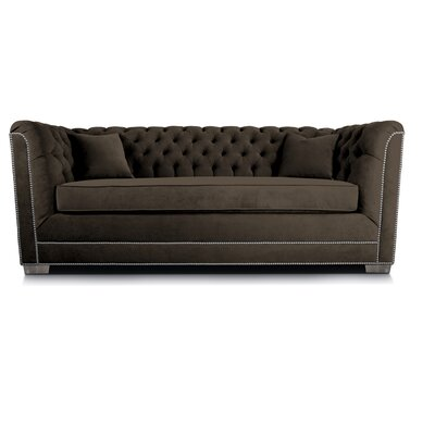 Buckingham Chesterfield Sofa Upholstery: Charcoal
