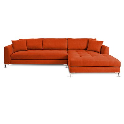 Divina II Sectional Orientation: Right Hand Facing, Upholstery: Hacienda