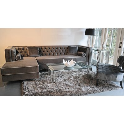 Tobias Sectional Orientation: Left Hand Facing, Upholstery: Cosmic Gray
