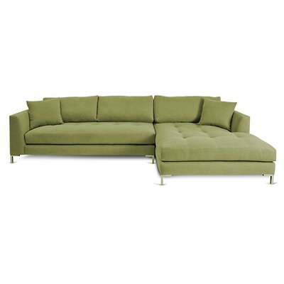 Divina II Sectional Orientation: Right Hand Facing, Upholstery: Macaw