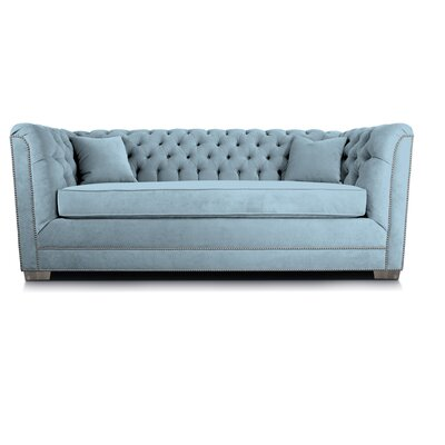 Buckingham Chesterfield Sofa Upholstery: Wedgewood