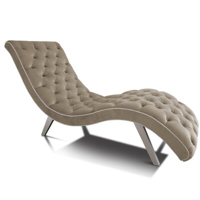 Tobias Chaise Lounge Upholstery: Vintage